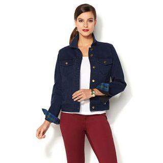 "IMAN Global Chic ""Slip Into Slim"" Curve Appeal Denim Jacket   8096991"