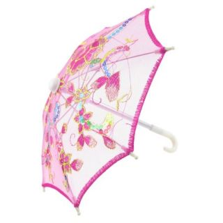 Rose Red Embroider Flower Pattern Foldable Mini Lace Umbrella Parasol for Child