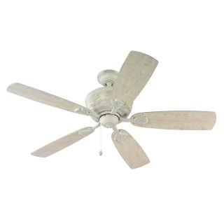 Harbor Breeze Lilly Ray 52 in Antique White Downrod or Flush Mount Indoor Ceiling Fan