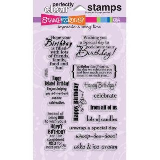 Stampendous Perfectly Clear Stamps 4inX6in Pkg Wild Sayings