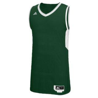 adidas Team Commander Jersey   Mens   Basketball   Clothing   Dark Green/White