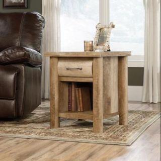 Sauder Boone Mountain End Table in Craftsman Oak