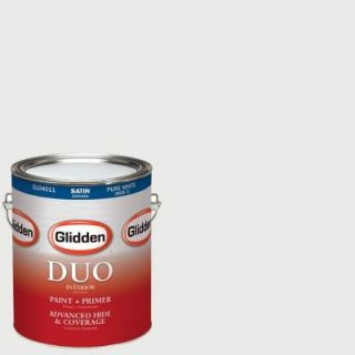 Glidden DUO 1 gal. #HDGCN30 Raindrop White Satin Latex Interior Paint with Primer HDGCN30 01SA