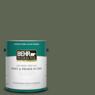 BEHR Premium Plus 1 gal. #N390 7 Cypress Vine Semi Gloss Enamel Interior Paint 330001