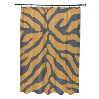 Flora and Fauna Animal Print Shower Curtain by e by design