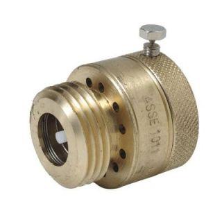 BrassCraft 1 in. 20 Fine Thread x 3/4 in. Hose Thread Brass Garden Hose Vacuum Breaker PS612X