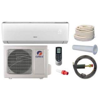 GREE Vireo 9,000 BTU 3/4 Ton Ductless Mini Split Air Conditioner and Heat Pump Kit   115V/60Hz VIR09HP115V1AKIT