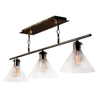 Amerie 3 Light Island Light Black (Includes Edison Bulb)