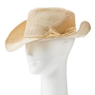 d2a09d92652 ... Womens Woven Straw Cowboy Hat with Bow Natural  Ferrecci Mens ...