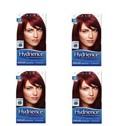 Clairol Hydrience #32 Hibiscus, Dark Red Hair Color (Pack of 4