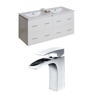 American Imaginations Xena 48 Double Bathroom Vanity Set