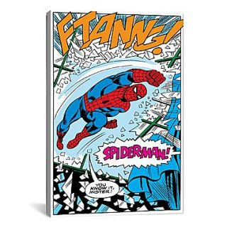 iCanvas Marvel Comics Spider Man Panel B Graphic Art on Wrapped Canvas; 61 H x 41 W x 1.5 D