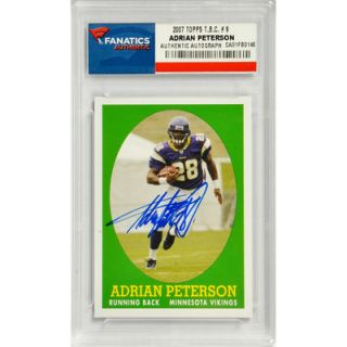 Adrian Peterson Minnesota Vikings  Authentic Autographed 2007 Topps T.B.C. #9 Card