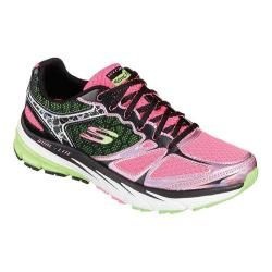 Womens Skechers Relaxed Fit Optimus Training Shoe Black/Hot Pink/Lime