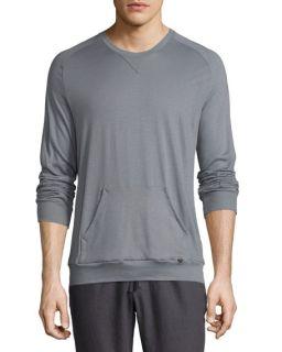 Hanro Paolo Long Sleeve Shirt, Frost Gray