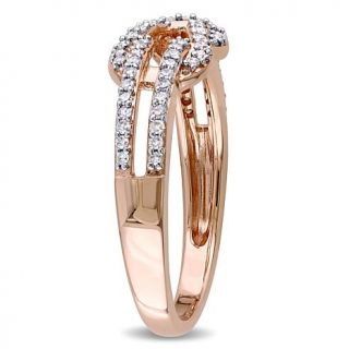 10K Rose Gold 0.24ctw White Diamond Bow Crossover Ring   8252972