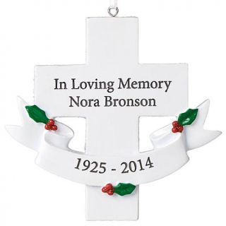 """Personal Creations Personalized """"In Loving Memory"""" Cross Ornament   7646209"""